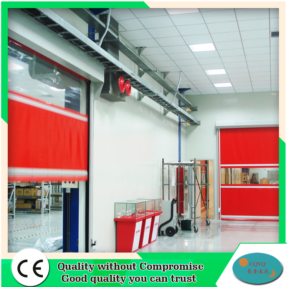 CE approval automatic safety fast pvc high speed roll up door