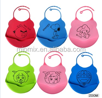 High quality hot sale waterproof silicone baby bib