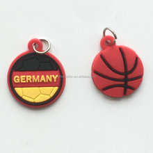 Different color fadeless jordan rubber pvc keychain / gifts pvc keychain