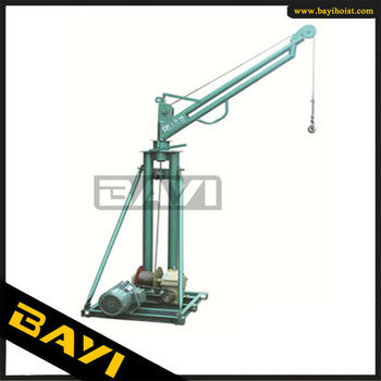 300kg double pipe mini crane