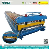Aluminium IBR Corrugation Wave Metall Sheet Equipment for Roof Tile Roll Forming Machine