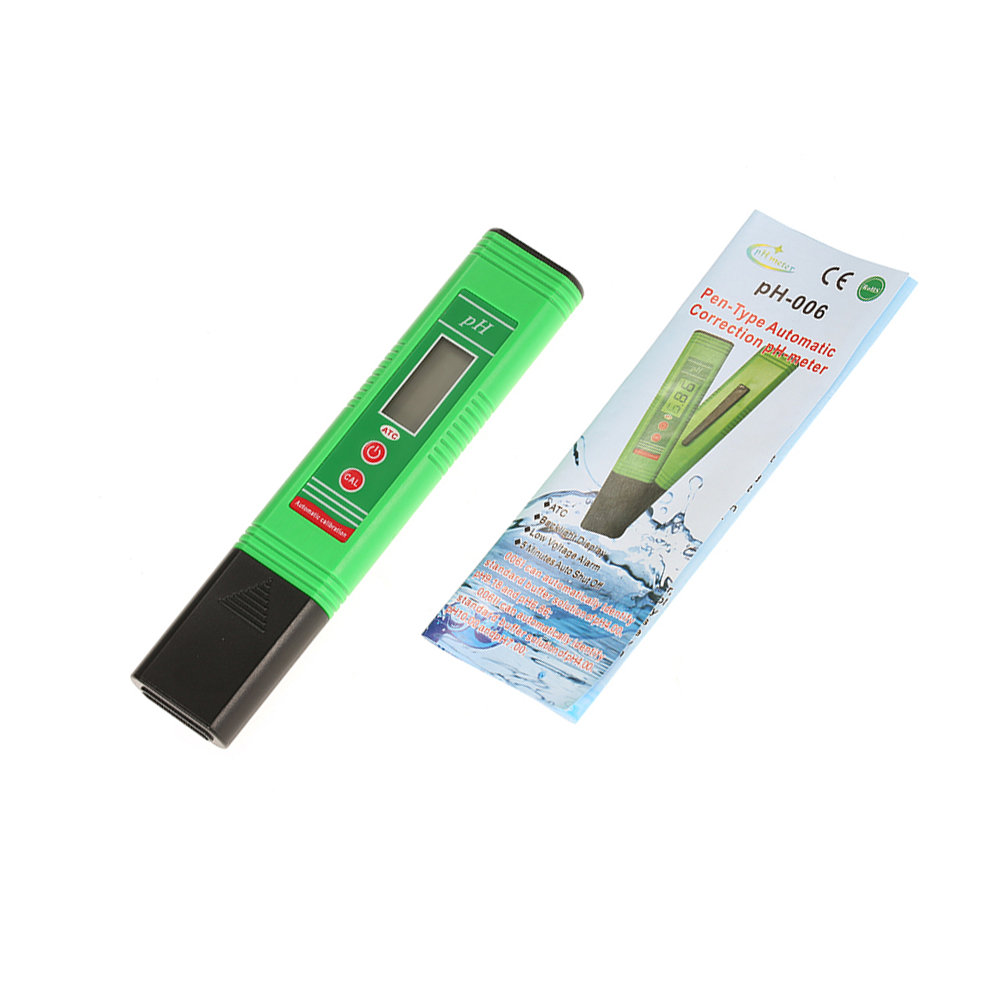 2018 latest High accuracy 0.03 ph green back light digital ph meter