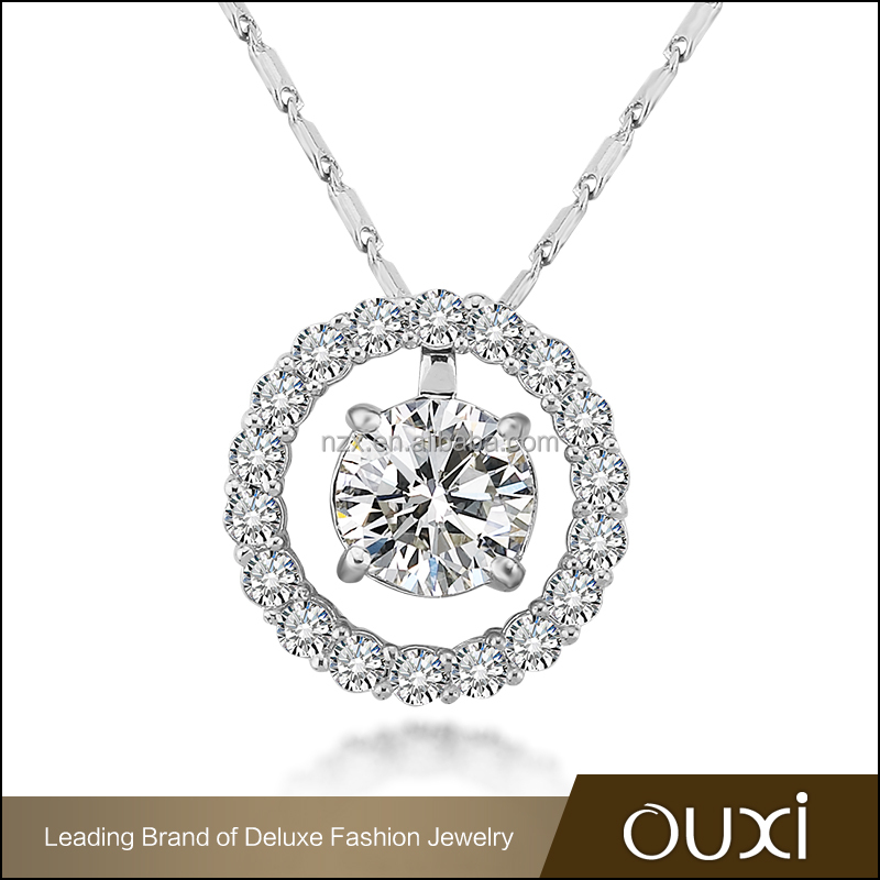 OUXI 2015 hot sell china manufacturer wholesale AAA cubic zirconia pendant necklace jewelry 11165-1
