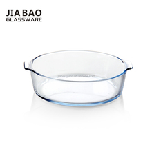 9inch High quality square borosilicate glass bowl,heat resistant glass food bowl for microwave oven with double ears GB13G83230