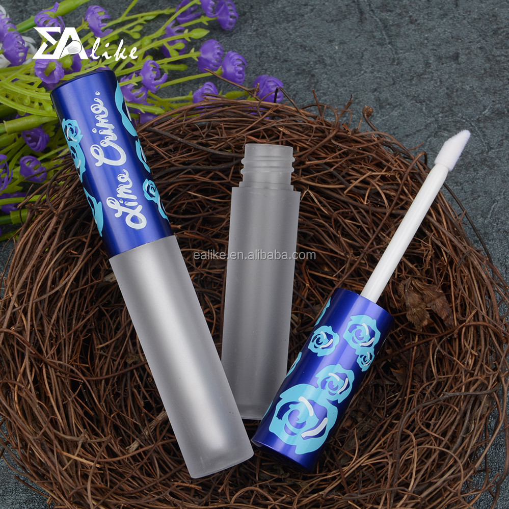 High quality decorative aluminum slim lip gloss container with applicator