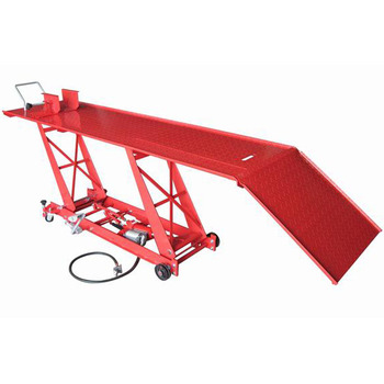 1000lbs Motorcycle Pick Up Lift Table with Air Pump