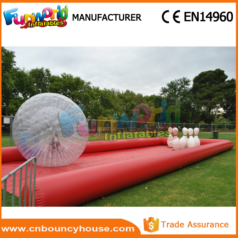 Inflatable bumper ball sport zorb game human bowling ball