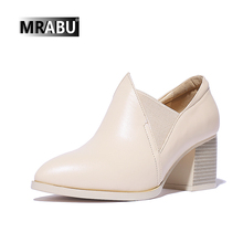 china factory casual chunky heel handmade leather custom ladies footwear pictures bulk wholesale shoes