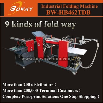 BW-HB462TDB 9 kinds of fold ways Industrial Folder Machine