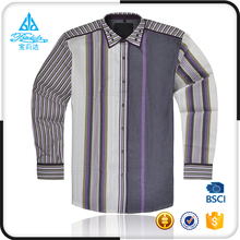 Top brand latest fashion men full long sleeve slim fit stylish casual shirt new design