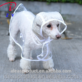 Transparent PVC Dog Clothes Pet Accessory Dog Raincoat