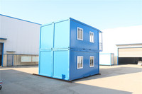 Portable new galvanized shipping container log house cabin