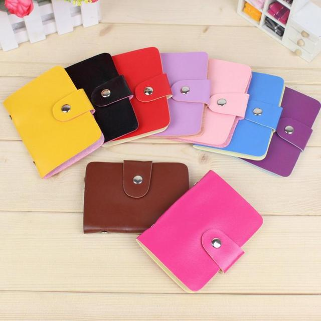 Fashion business credit card holder PU leather Buckle Cards Holders Organizer Manager passport cover Women Men