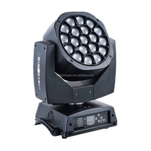 clay paky 19pcs*15W big bee eye 4 in 1 RGBW led zoom moving head k10 dj lights