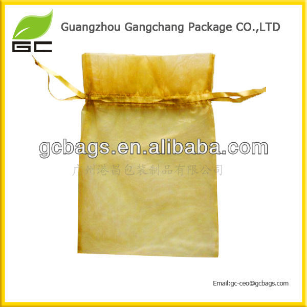 fashion printed jeweled organza bags for gifts packing