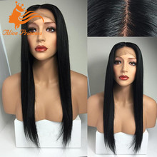 Silky Straight 100% Virgin Remy Brazilian Human Hair Full Lace Wig With Baby Hair