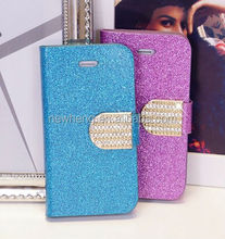 Luxury Flip Diamond Bling Leather Case for Samsung Galaxy S5 i9600 china