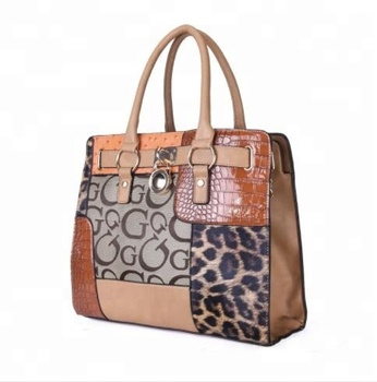 2018 New Quality Lock Catch Women Ladies leopard print PU handbag tote bag shoulder bag retail /whole sale fashion design bags