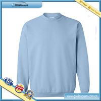 Mens Plain Pullover Fleece Sweatshirt