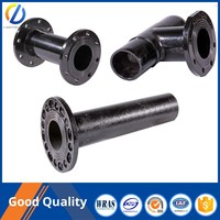 Strict quality control of the water treatment equipment Ductile Iron Pipe Fittings All Flange End Reducing tee with various uses