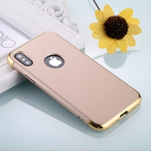 2017 New <strong>Protective</strong> Case For iPhone X Three Stage Splicing Electroplating Side <strong>Protective</strong> Back Cover Case (Champagne Gold)
