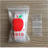 Cheap custom plastic LDPE apple mini ziplock bag