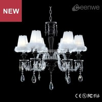 Best selling Living room 6 lights chrome lampshade crystal mini chandelier