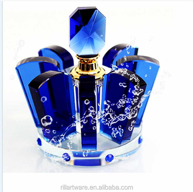wholesale new design kingly crystal crown shape perfume bottles