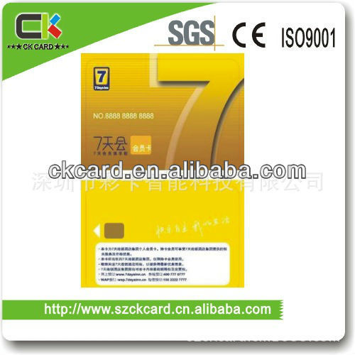 pvc contact chip card high quality