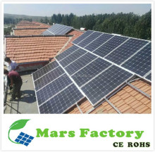 Mono pv 250 watt solar panel price india 1000 watt 1 kw complete solar power system with battery for home solar power 5KW