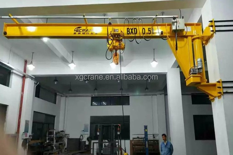 Fixed On The Wall Jib Crane With Electric Hoist Price