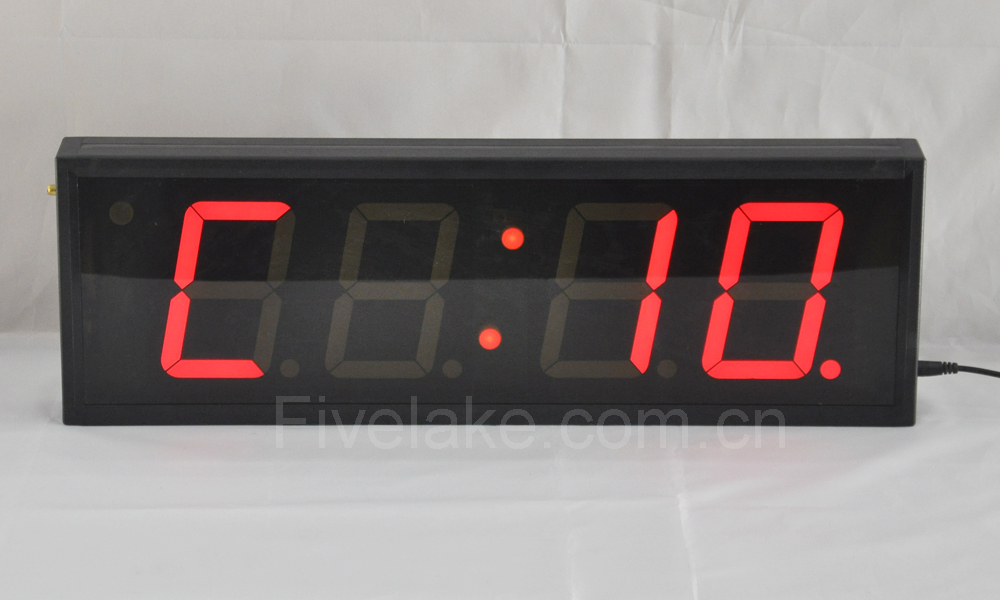 Fivelake Large Indoor LED Interval Timer With Remote Control, Countdown, Count-up, Stopwatch