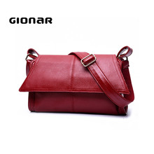 Factory Wholesale Lady Splicing Genuine Leather Handbag
