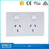 YOUU Waterproof White 2 Gang 2 Way Switch Wall Switch Sockets And Cover Plates