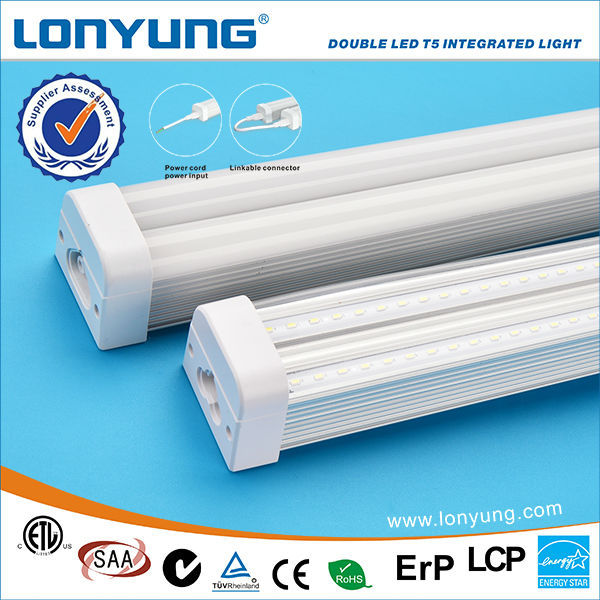 Best Selling 30w Double led tube fixture 150 cm with ETL DLC TUV SAA C-Tick t5 Integrated led lighting for t5 led light fixture