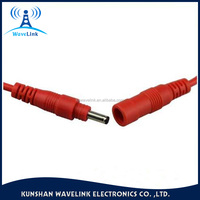 Red Color Waterproof DC 24 Power Cable 3.5*1.35mm Male To Female DC Power Cable