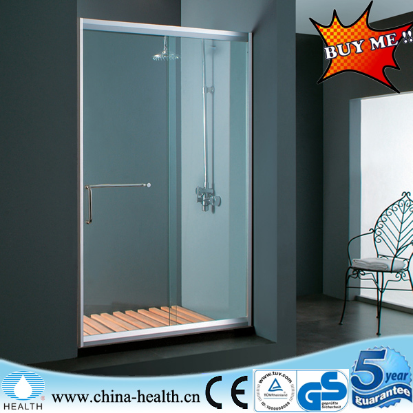 6mm tempered Fixed panel glass&movable door bath screen