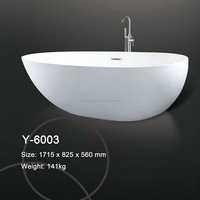 DOMO Custom size acrylic solid surface bathtub / stone resin bath tubs