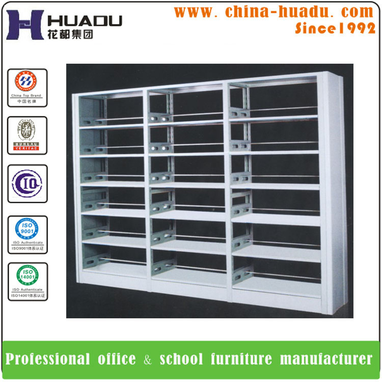 High Quality Metal Book Shelf/Library Wood Steel Combination Bookcase