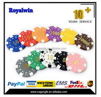 ABS custom printed ceramic cheap poker chips round shape clay poker chip set