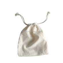 eco promotional small organic cotton drawstring bag