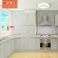 Kitchen furniture selling well modern white mat finishing wall mounted 4 door pvc kitchen pantry cupboards