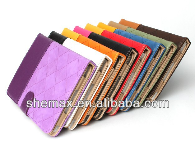 NEWEST Fashion/stylish leather cover case for ipad4/3/2,for ipad case made in China