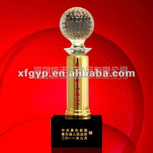 golden award metal and crystal trophy cup, Pillar of everything