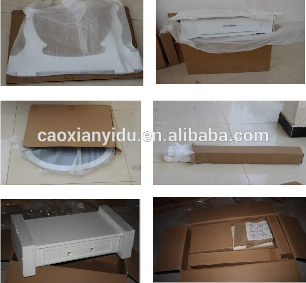 K/D White Wooden Dressing Table with Stool and Mirror/Make-up Table