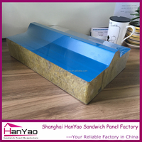 Shanghai Hanyao High Quality Fireproof Color Steel Rockwool Sandwich Panel for Roof