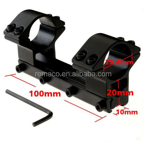 Tactical Hunting Rail Mount Rifle Scope Mount Overall Long Type Ring Diameter 25.4mm Length 100mm GA06