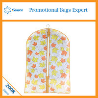 Hottest floral pattern non woven suit cover bag fabric garment bag