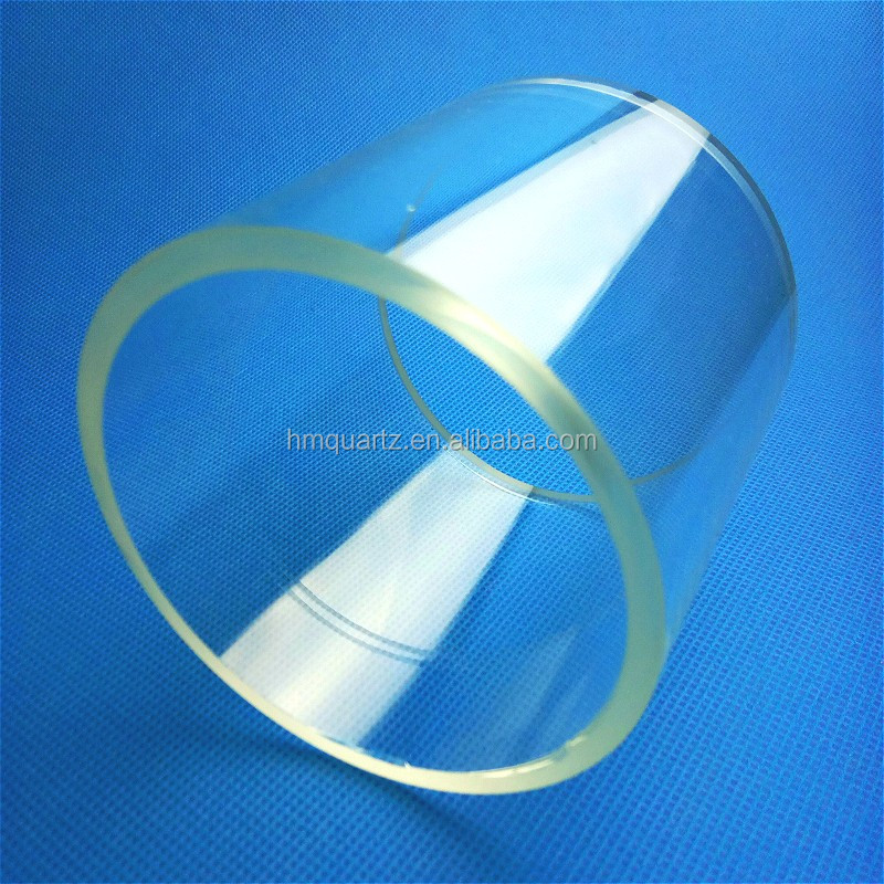 HM High Temperature Resistant Fused Silica Clear Quartz Tube Open End