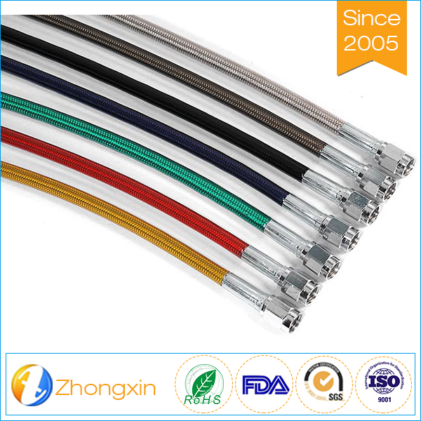 ATV Stainless Steel Braided Hose Motorcycle teflon ptfe Brake Hose or Clutch Oil Hose Line